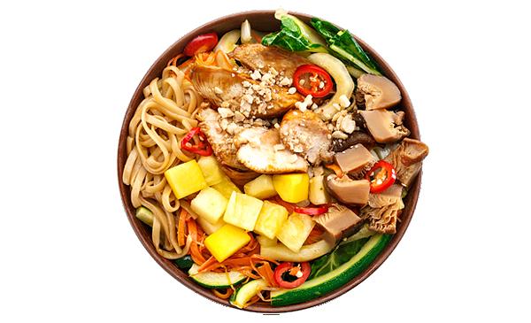Вьетнамский с курицей терияки и лапшой