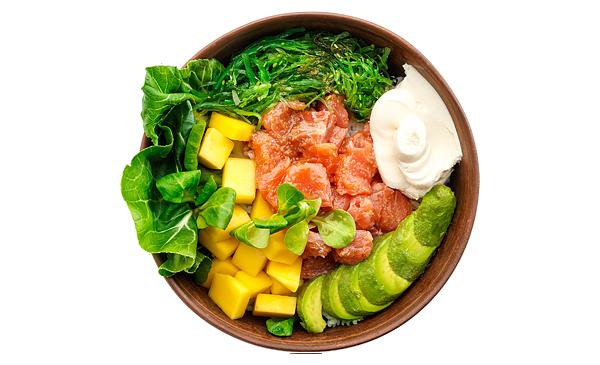 Гавайский с лососем и рисом