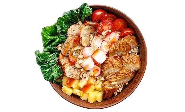 Японський з куркою теріякі і рисом